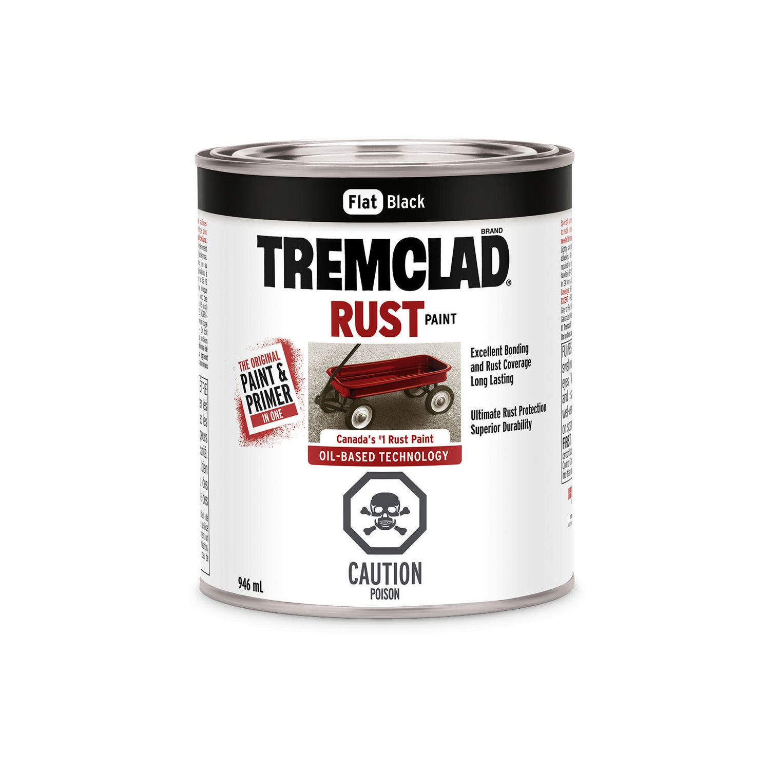 Tremclad Flat Black Rust Paint