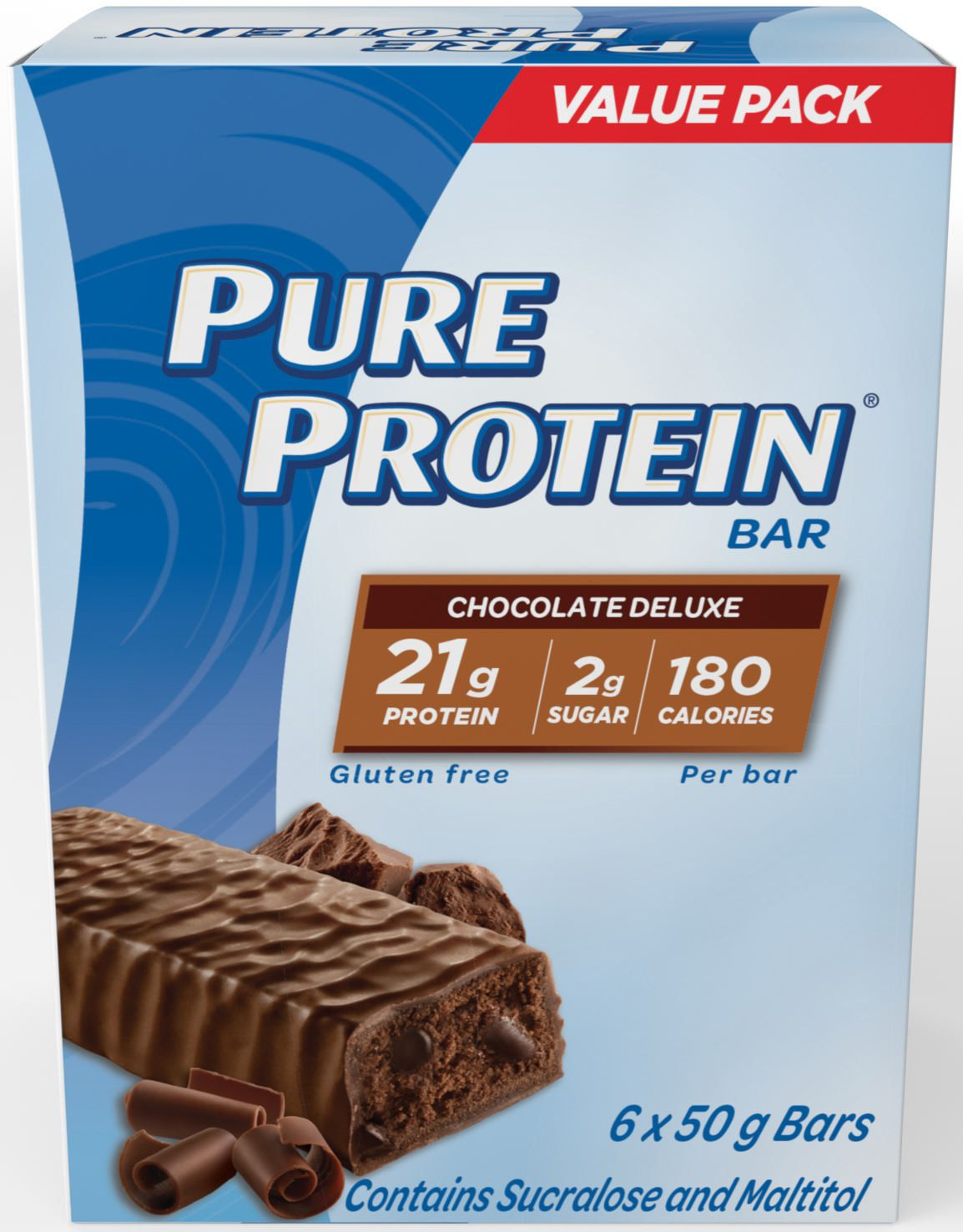 Pure Protein Gluten Free Chocolate Deluxe Bars Value Pack ...