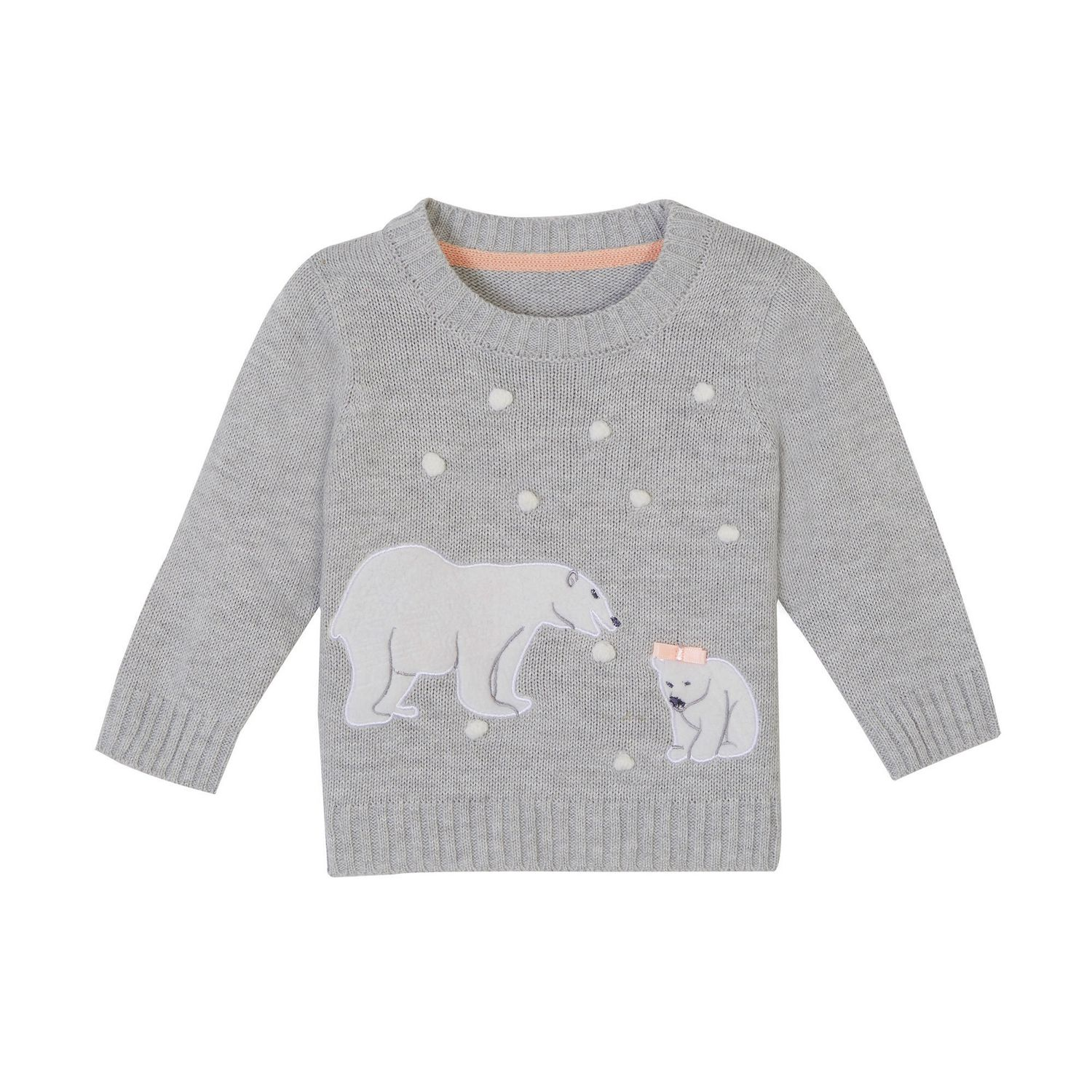 14174eb36960 George baby Girls  Applique Holiday Sweater