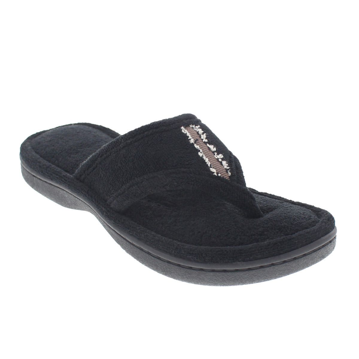 f0423ab94c0 ISOspa by isotoner Women s Susan Microterry Thong Slippers - image 1 of 1  zoomed image