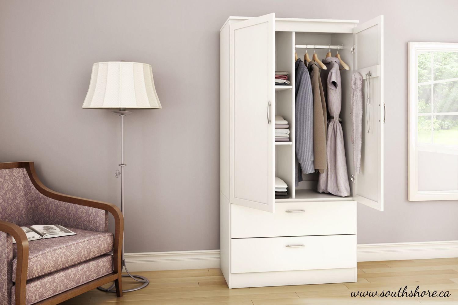 white spiff cor home fortytwo d wardrobe furniture cabinet valter
