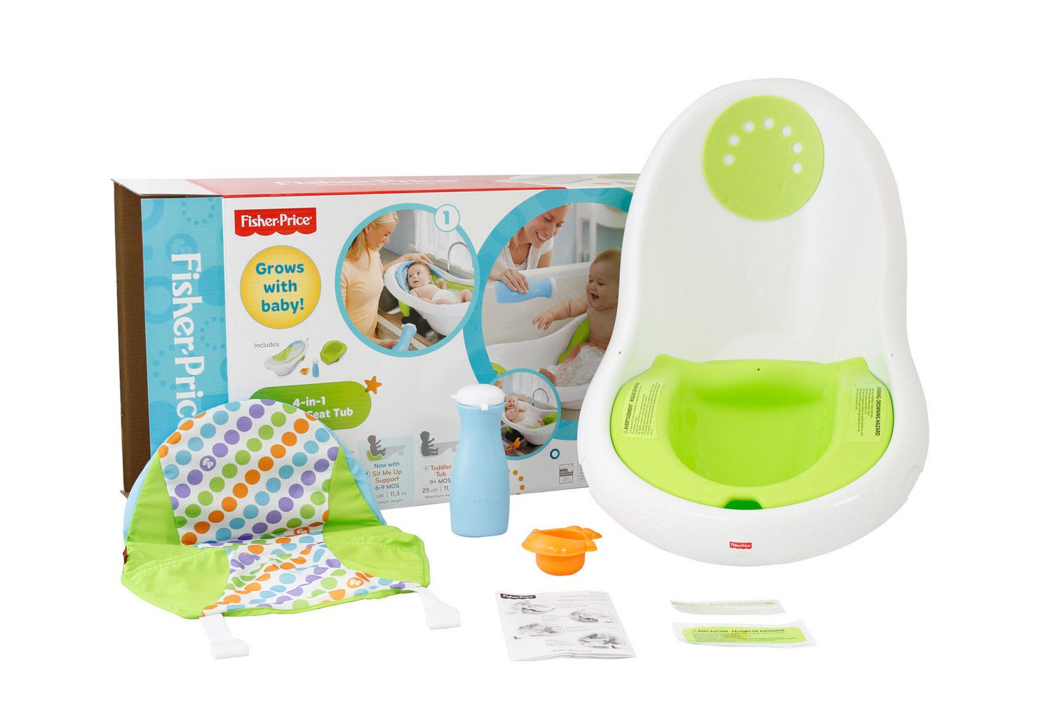 Mother's Helper Fisher-Price 4-in-1 Sling /'n Seat Bath Tub Baby Infant Toddler