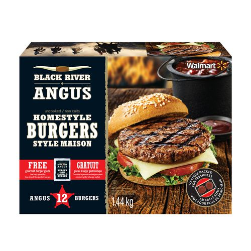 black river angus homestyle burgers | walmart canada