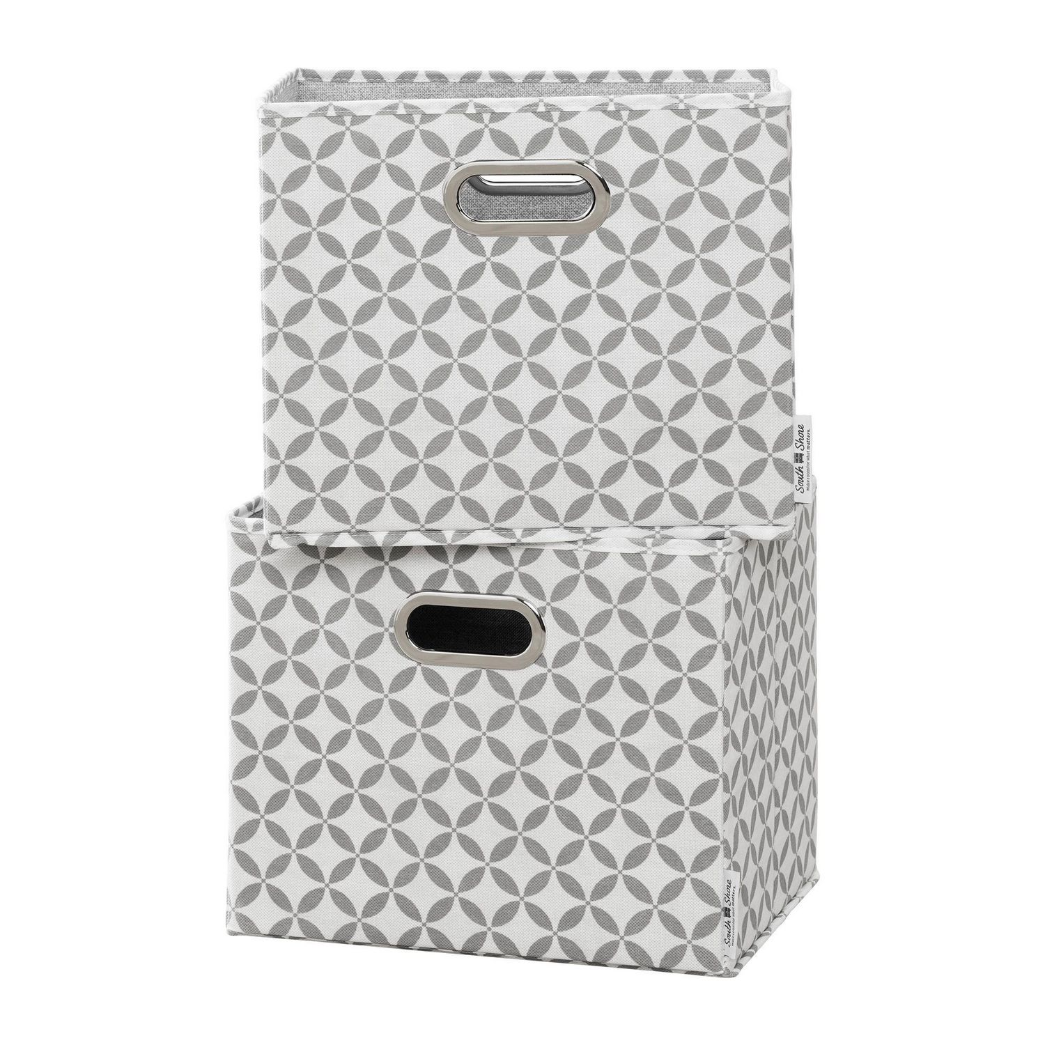 Best gifts for mom - South Shore Storit Fabric Storage Baskets, 2-Pack-Mouse Gray and White - For the mom who likes to organize everything