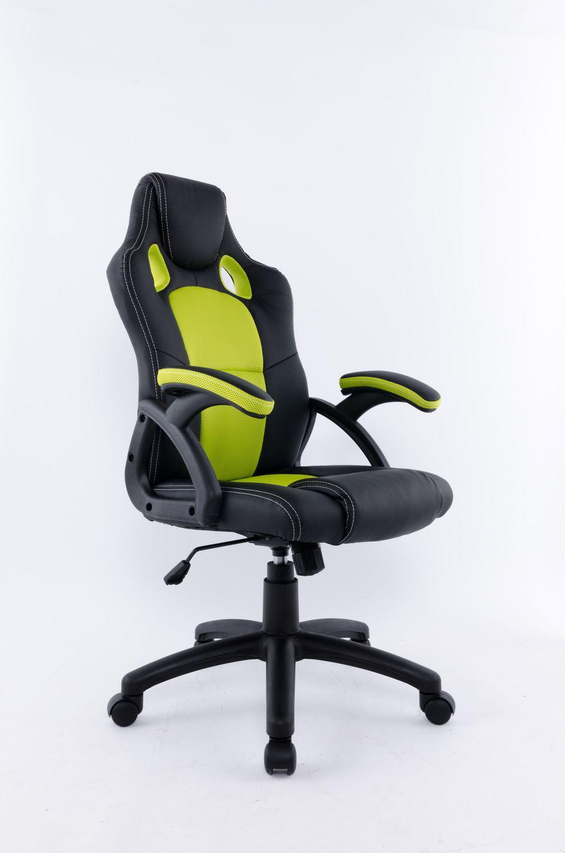 brassex inc brassex black green office chair 9157 grn blk