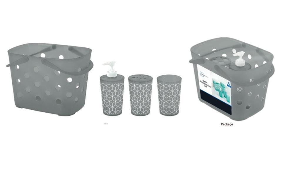 4pc Geometric Bath Set | Walmart Canada
