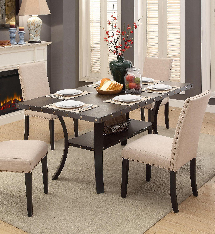 Fine Topline Home Furnishings Dark Brown Dining Table Download Free Architecture Designs Ferenbritishbridgeorg