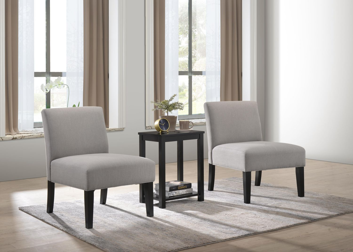 Aldo 2 Accent Chairs With Occasional Table