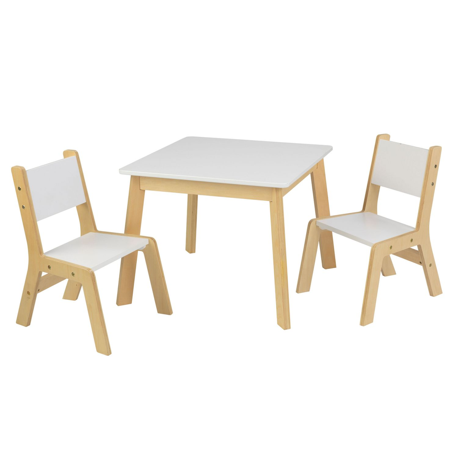 Kidkraft Round Table And 2 Chair Set Whitenatural.Kidkraft Modern Table And 2 Chair Set