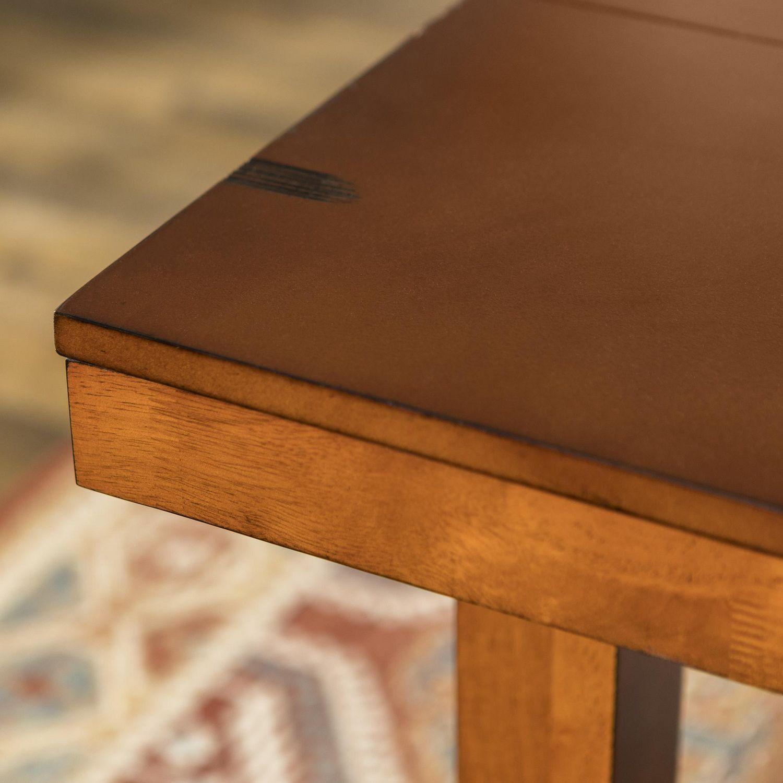 Walker edison distressed dark oak wood kitchen dining table walmart canada