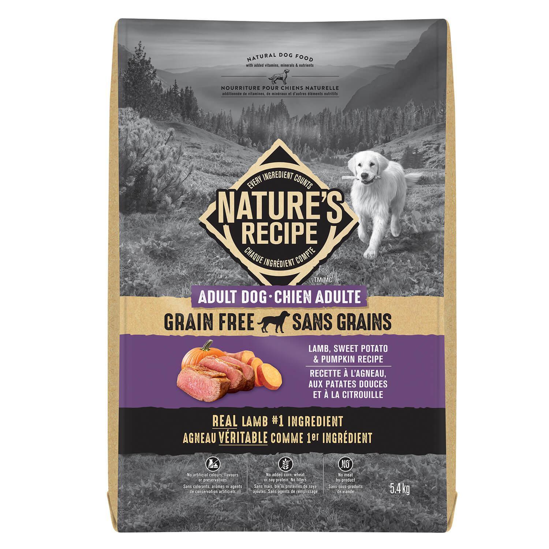 Nature's Recipe Adult Grain Free Lamb, Sweet Potato