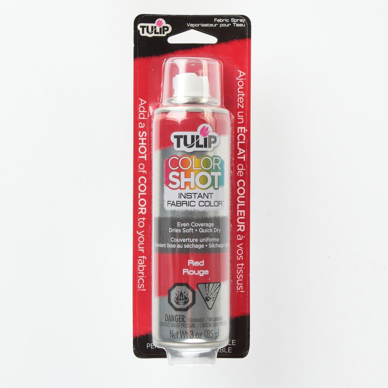 Tulip Colorshot Red Instant Fabric Colour Spray Walmart Canada
