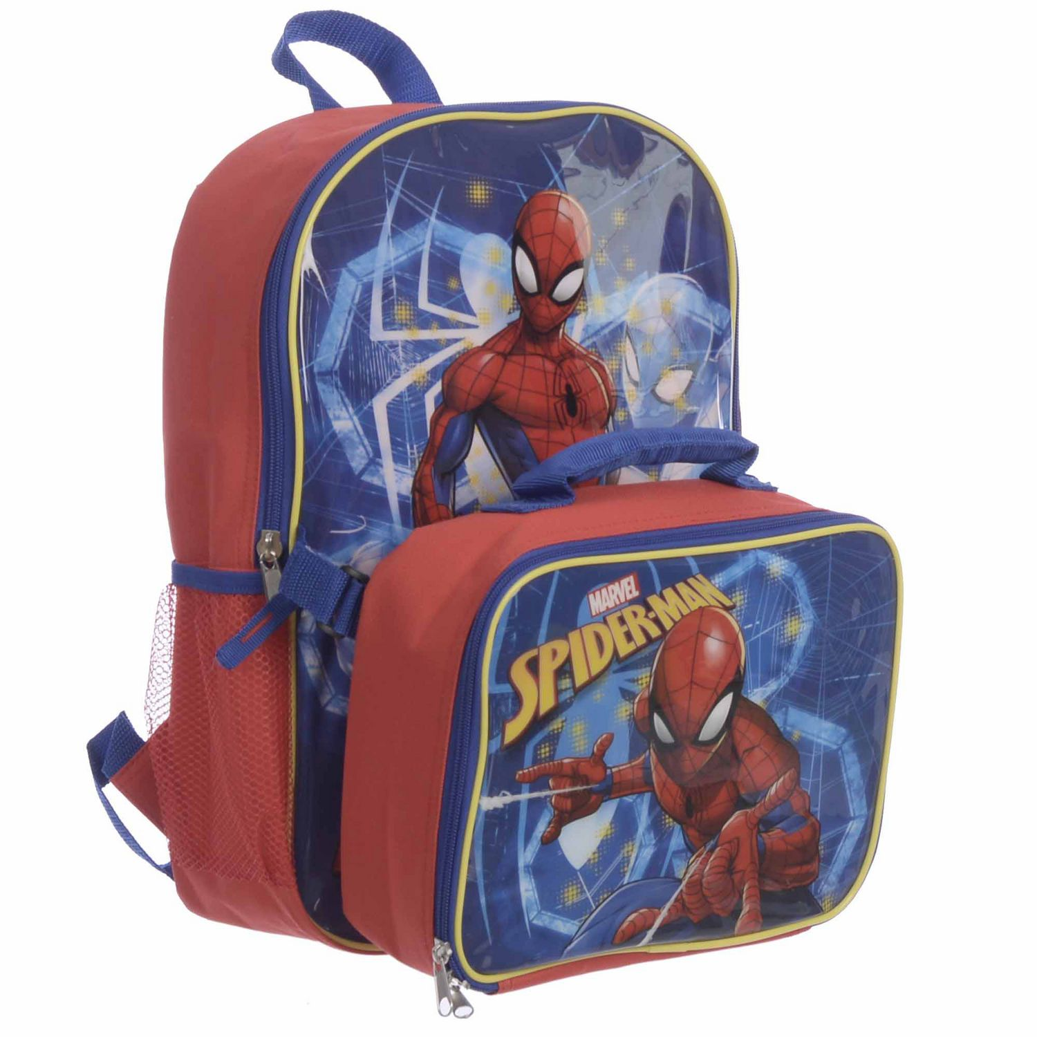 Spider Man Spiderman Backpack with Lunch Kit Combo 196f26565ac08