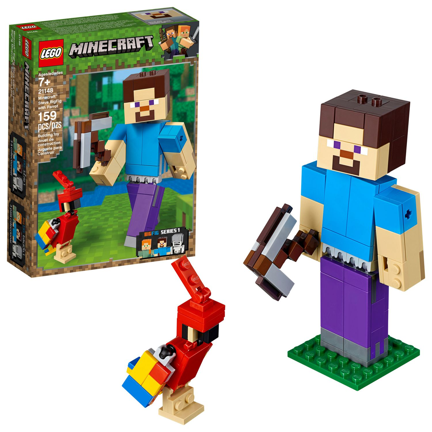 LEGO 21149 Minecraft Alex BigFig And Chicken Buildable Large Scale Action Figure