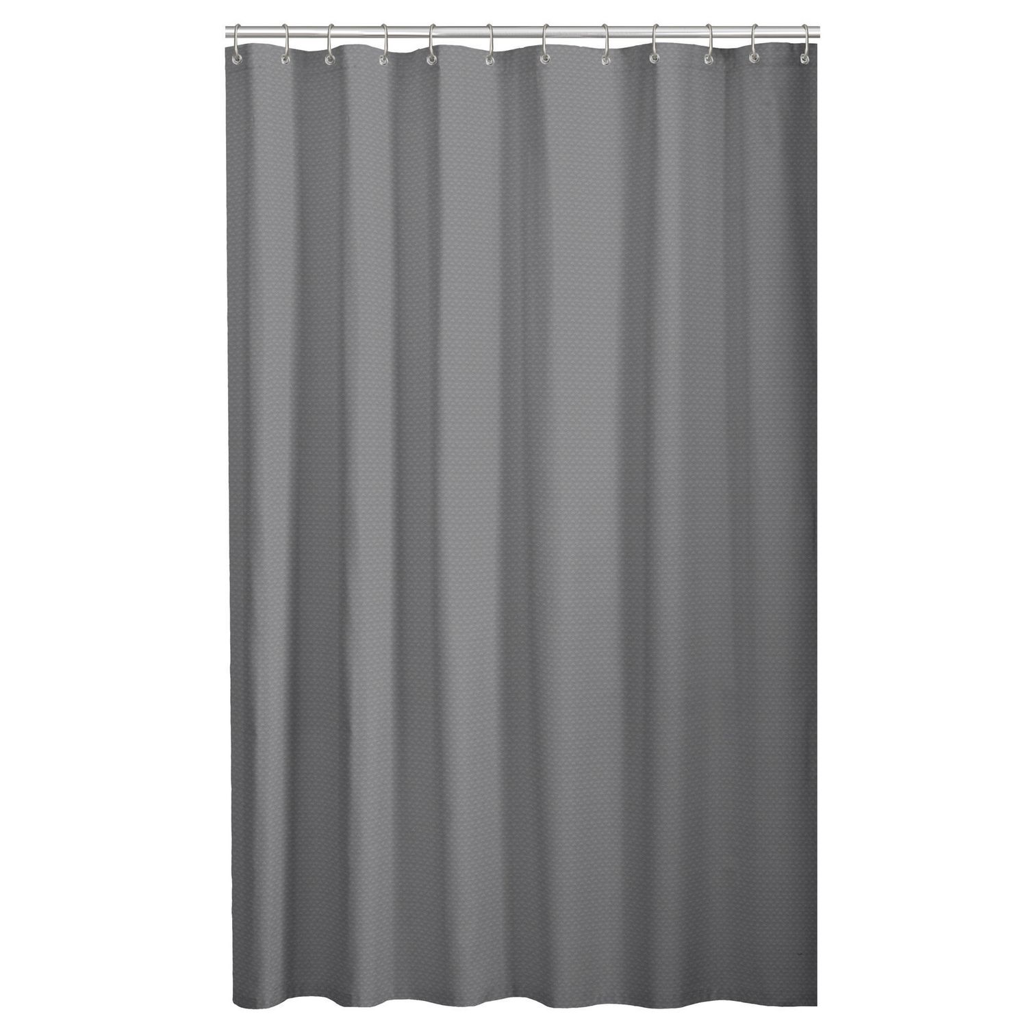 Hometrends waffle fabric shower curtain with peva liner walmart canada