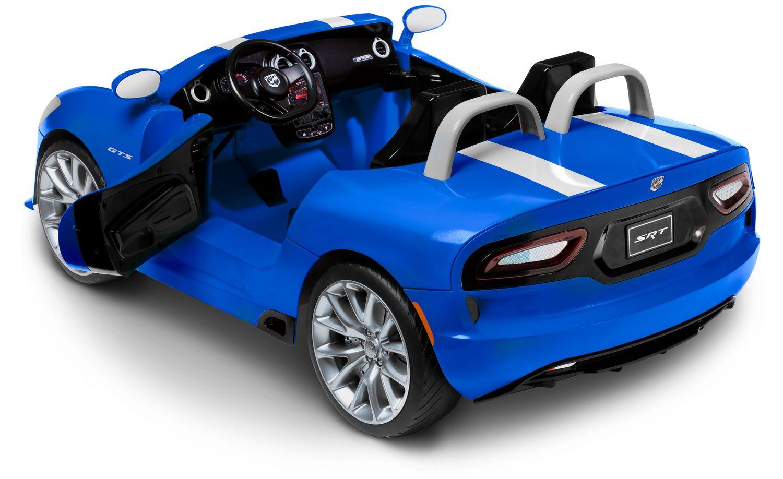 kidtrax dodge viper 12 volt powered blue ride on walmart canada