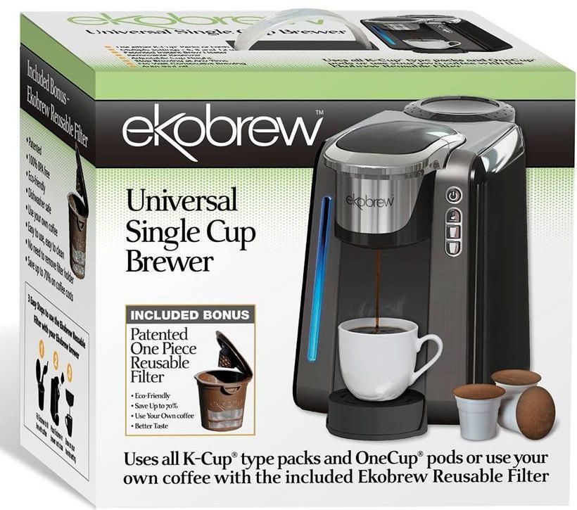 ekobrew universal single cup brewer includes bonus refillable kcup walmart canada - K Cup Brewers