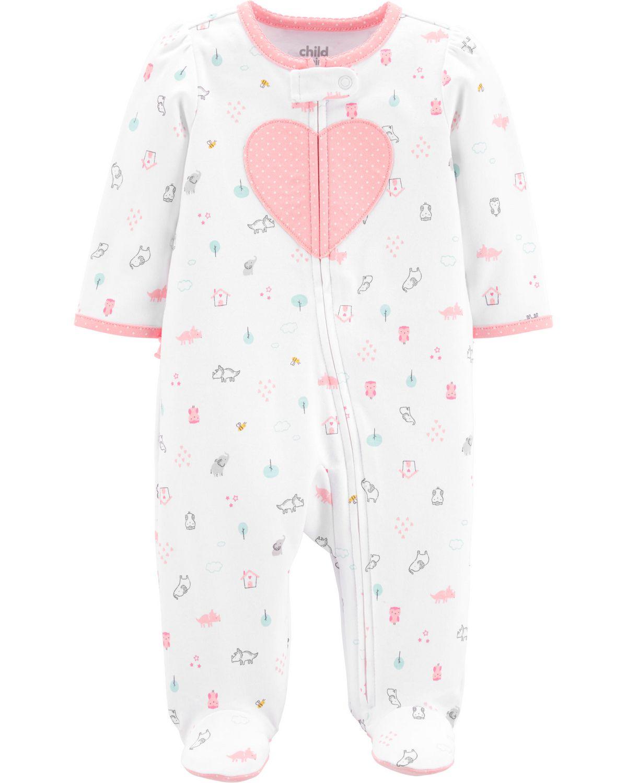 d2b4ff9bd222c Tenue avec pyjama-grenouillère pour nouveau-né fille Child of Mine made by  Carter s – coeur