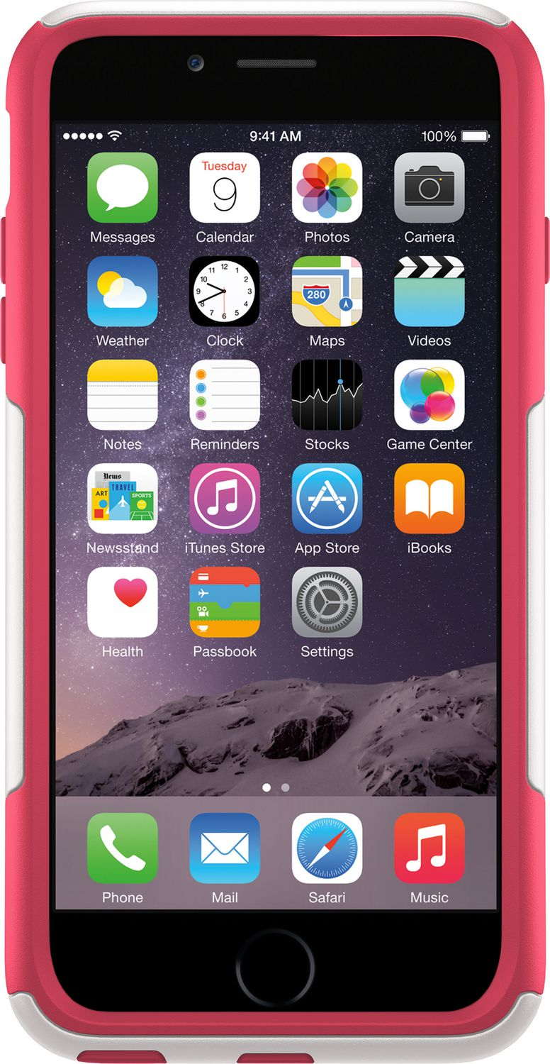 detailed look a721a a6033 OtterBox Commuter Series Case for iPhone 6 Plus - White/Blaze Pink