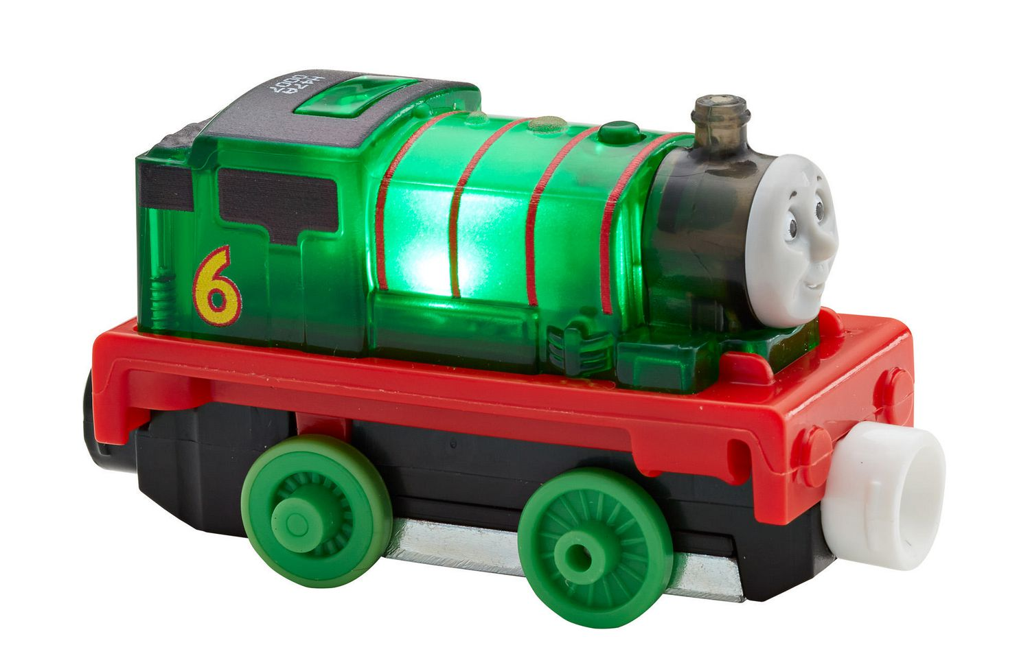 Fisher Price Thomas Friends Take N Play Glow Racers Percy Toy Train