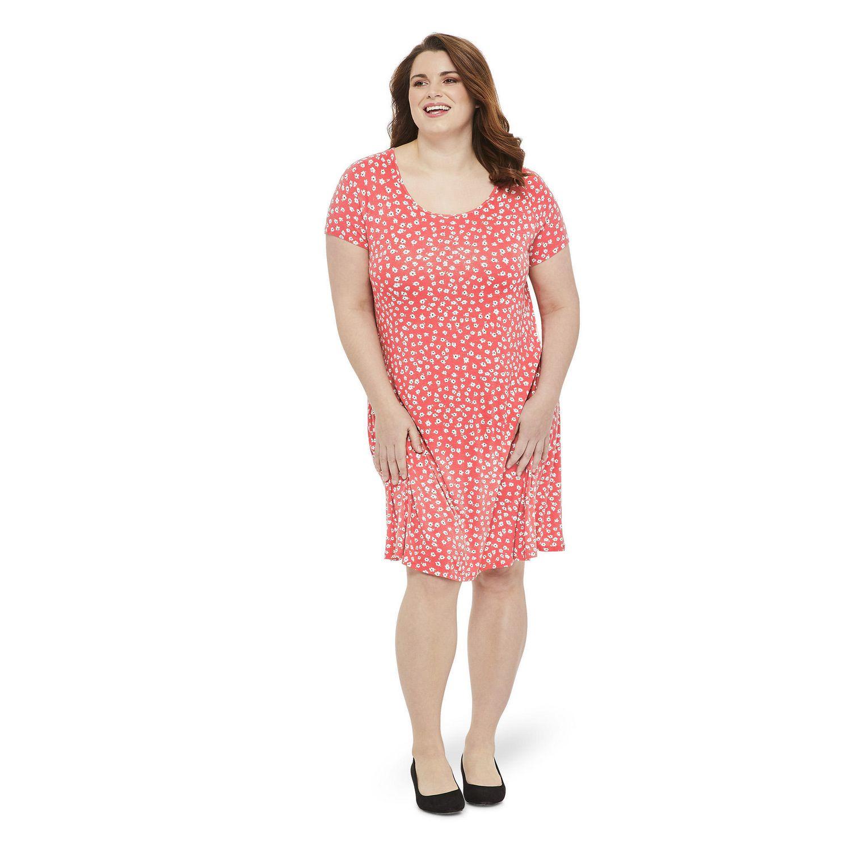 56675d0e3f88 George Plus Women's Short Sleeve Swing Dress | Walmart Canada