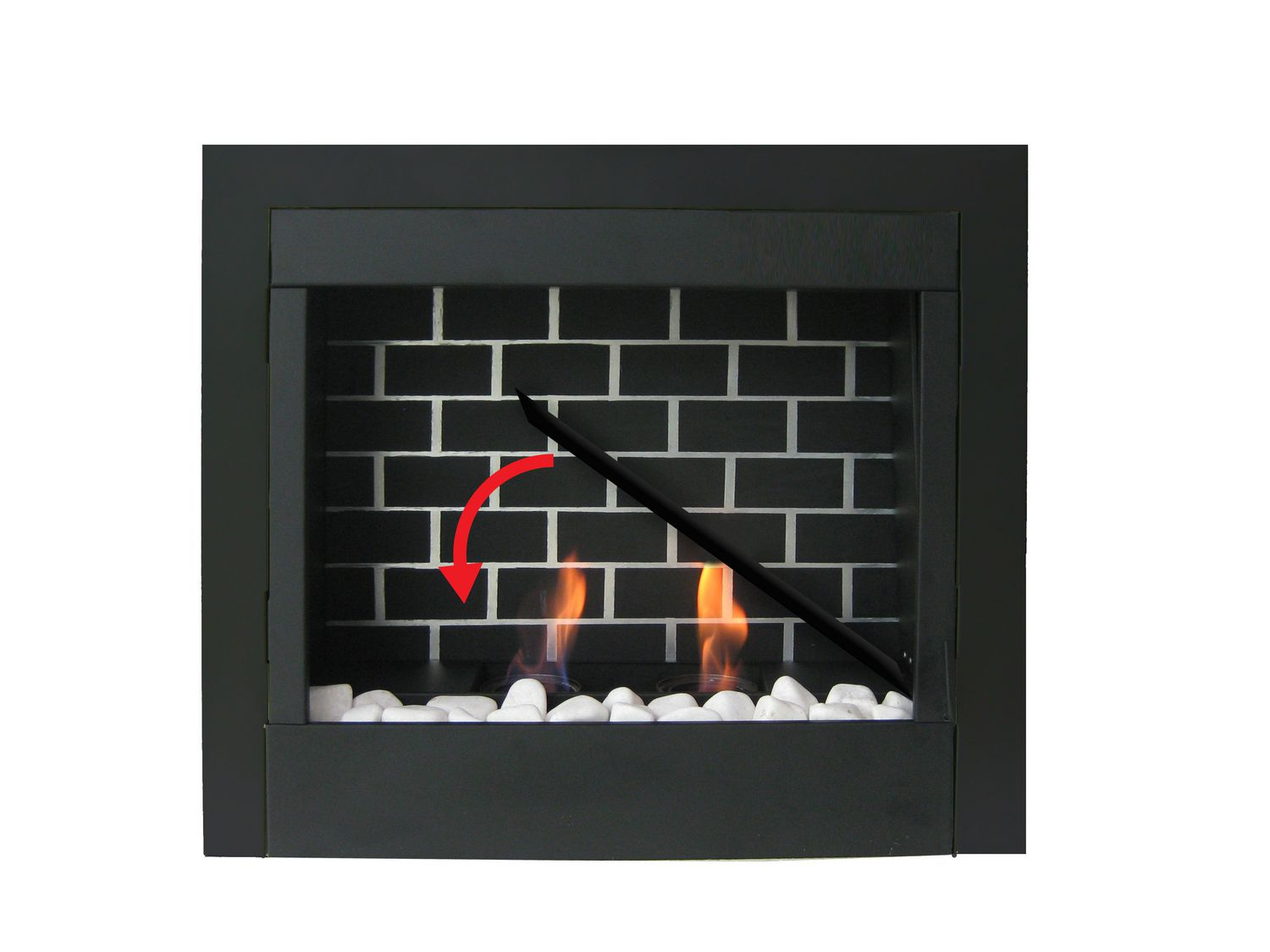 tiled natural elegance and any dark warmth fireplace stone in with room corner firebox mounted decorating wall fuel columns gel fireplaces walnut portable bring wood solid beautiful