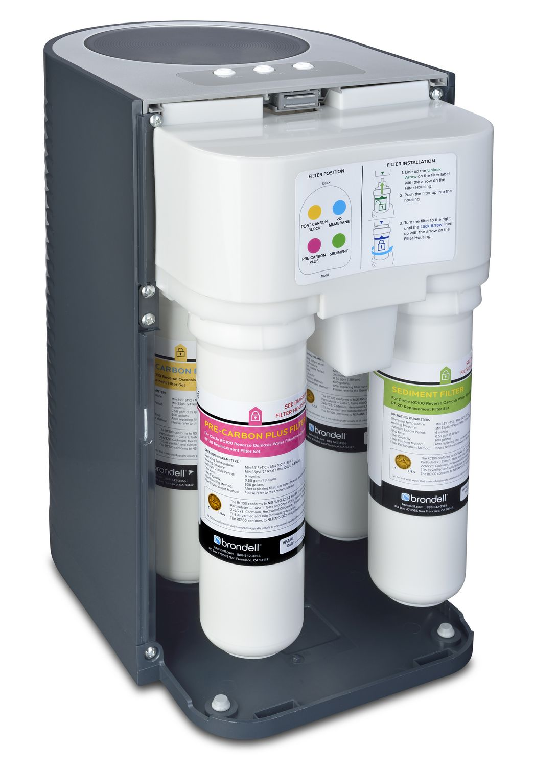 water filter system. Brondell H2O+ Circle Reverse Osmosis Water Filter System   Walmart Canada