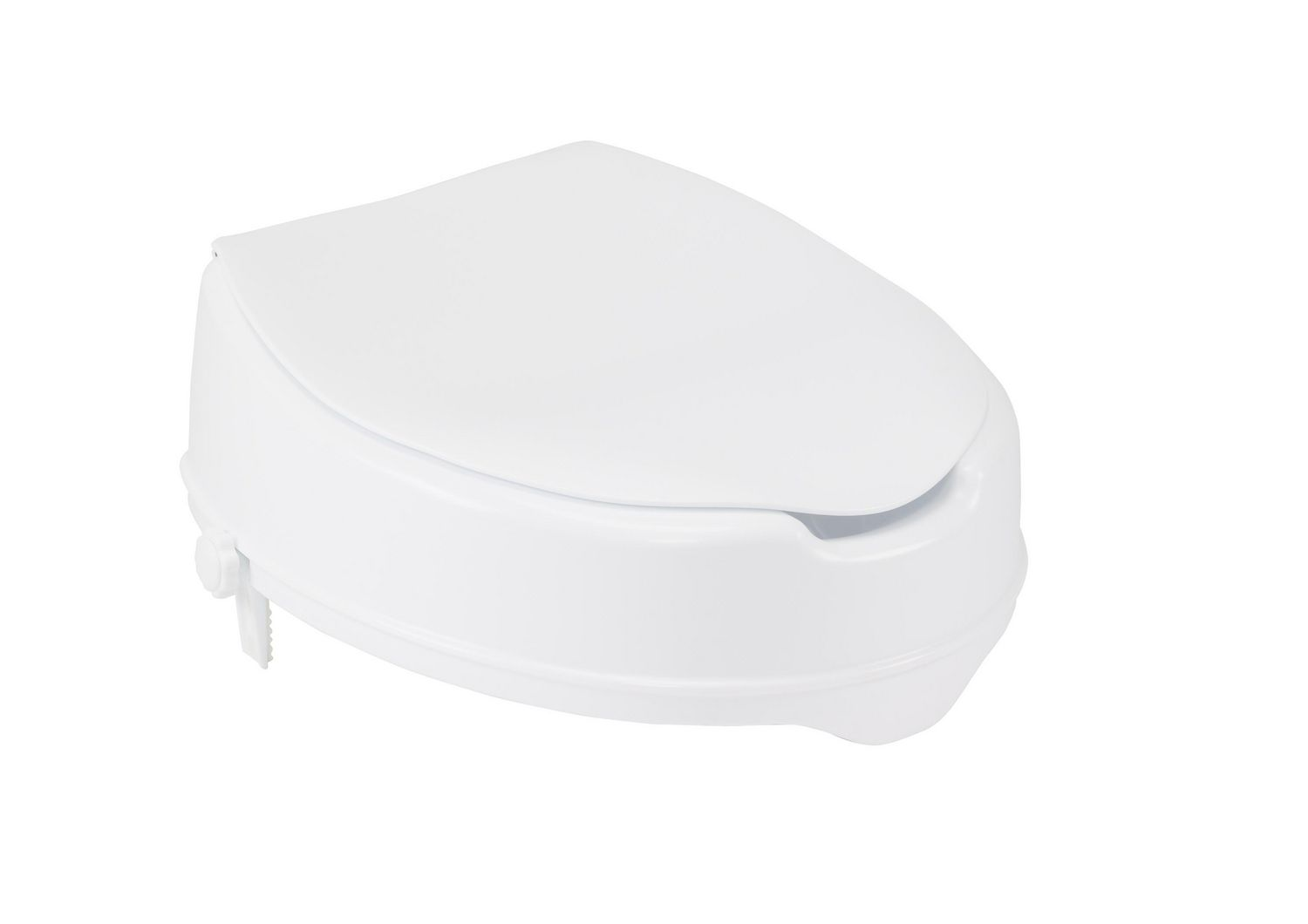 Drive Medical White Raised Toilet Seat With Lock And Lid Standard Seat 4 Walmart Canada