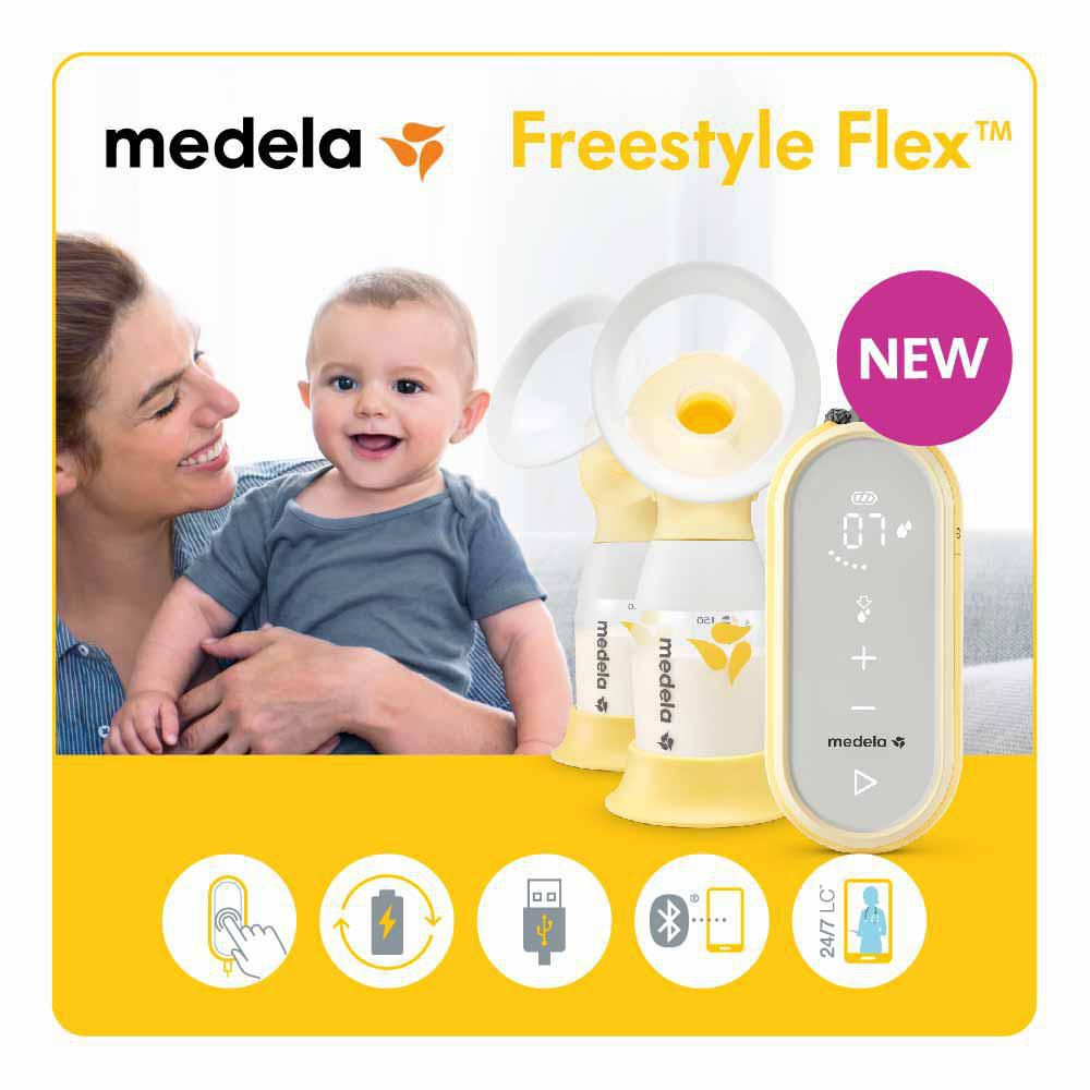Medela Freestyle Flex Breast Pump Closed System Quiet Portable