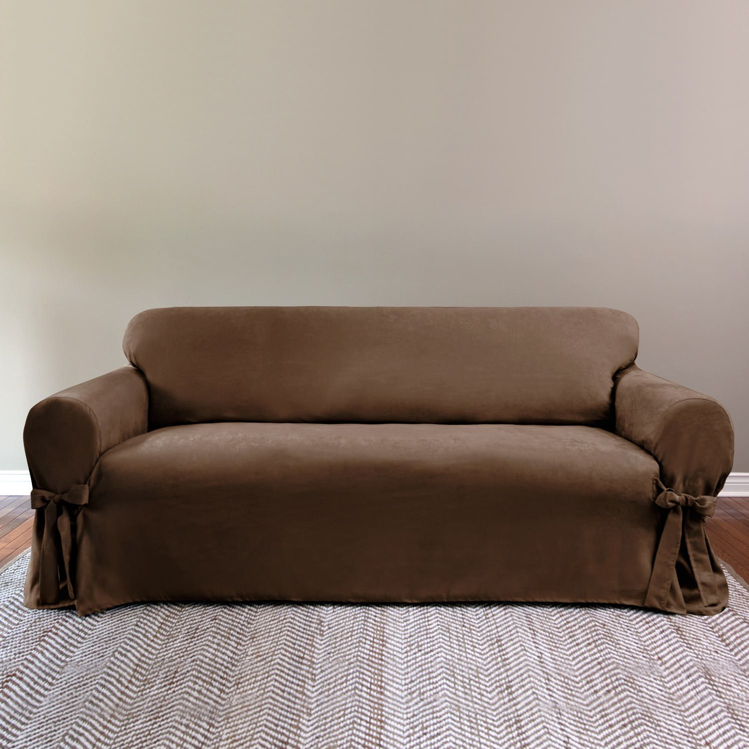 Sure Fit Suede Relaxed Fit Sofa Slipcover