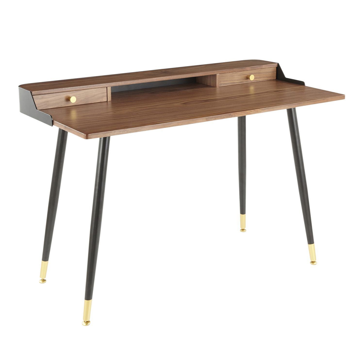 Image of: Harvey Mid Century Modern Desk By Lumisource Walmart Canada