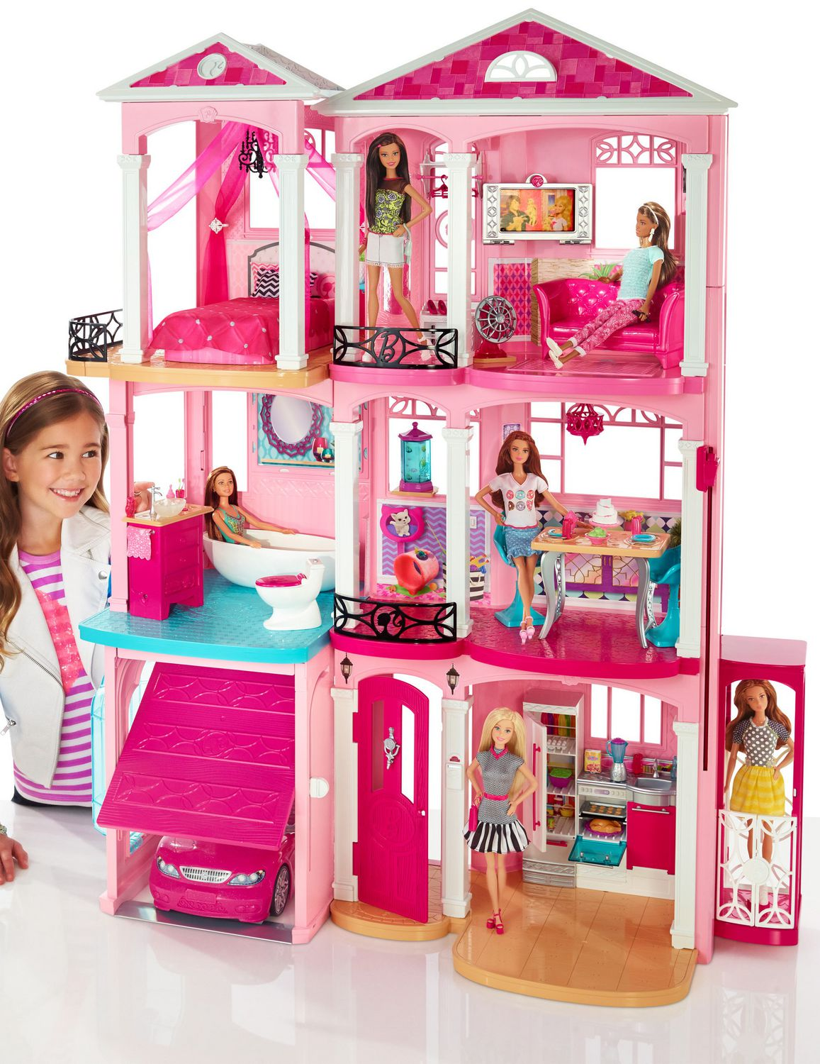 Maison de barbie avec ascenseur avie home - Barbie ma maison de reve ...