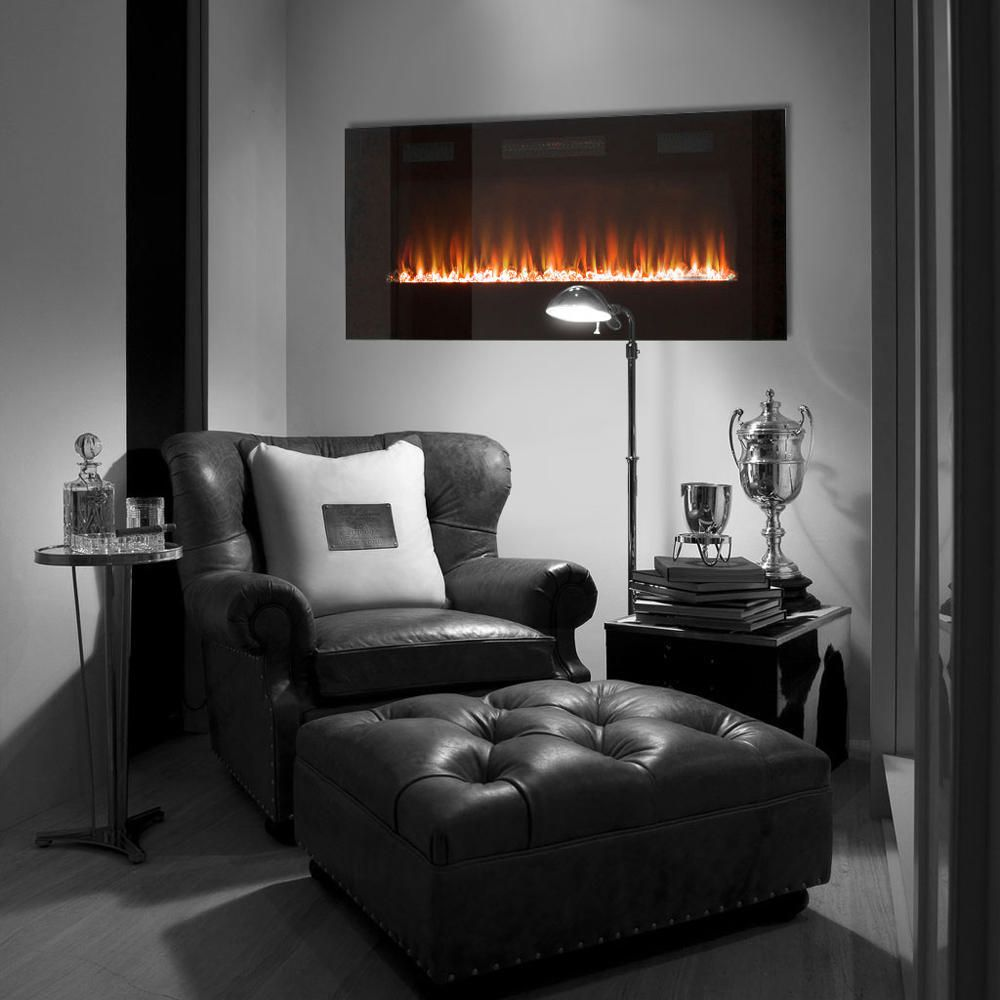 Paramount Premium Slim Wall Mount Electric Fireplace Walmart Canada
