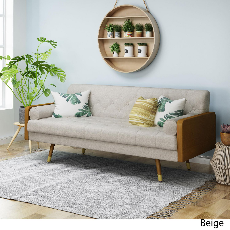 mid century modern sofa grey