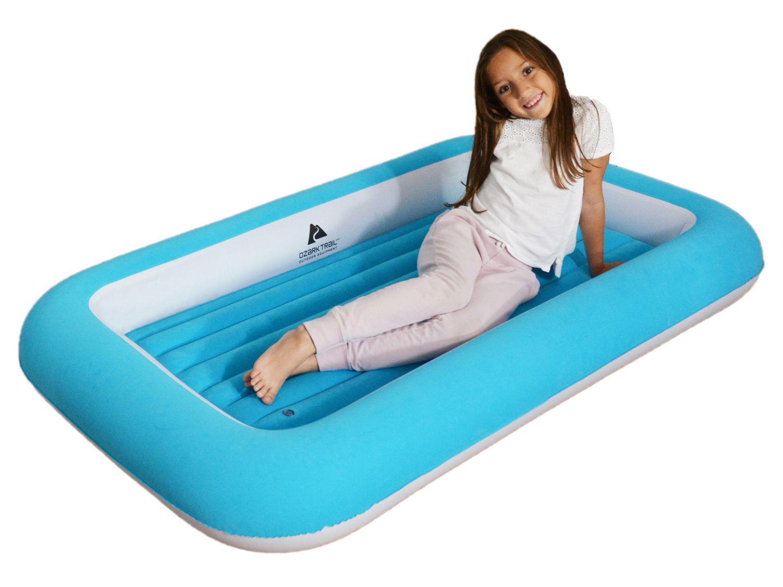Ozark Trail Kid S Flocked Air Bed Blue Walmart Canada