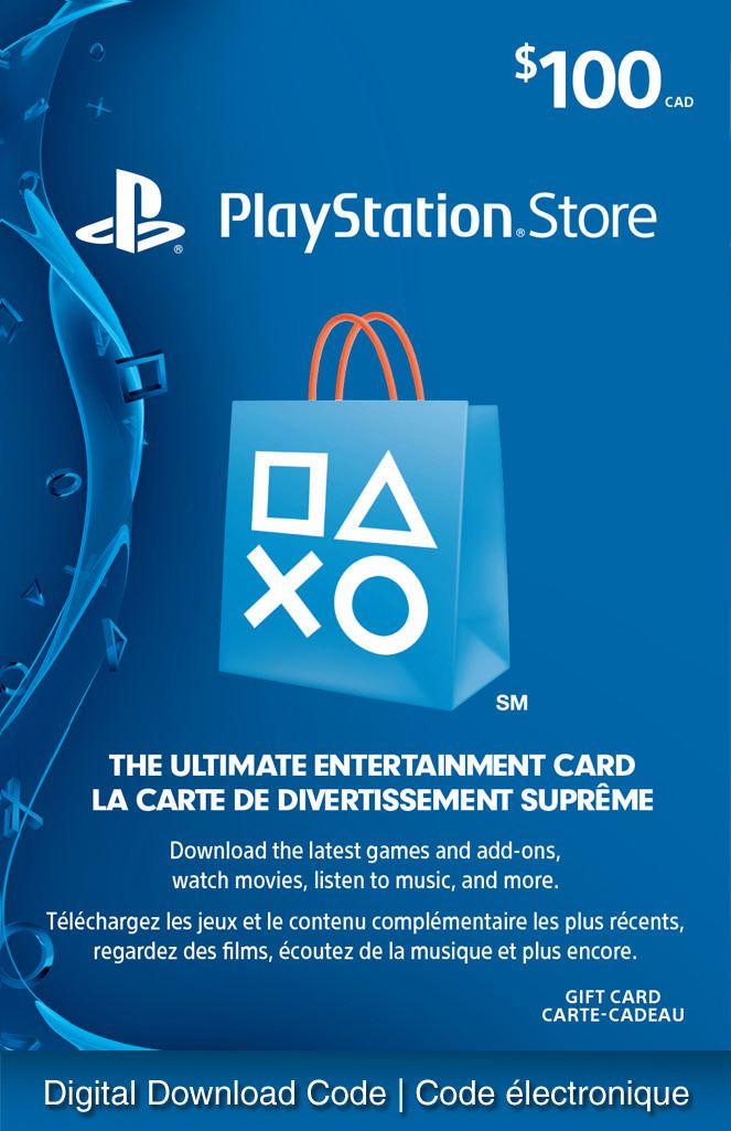 Playstationnetwork 100 Playstation Store Gift Card Digital