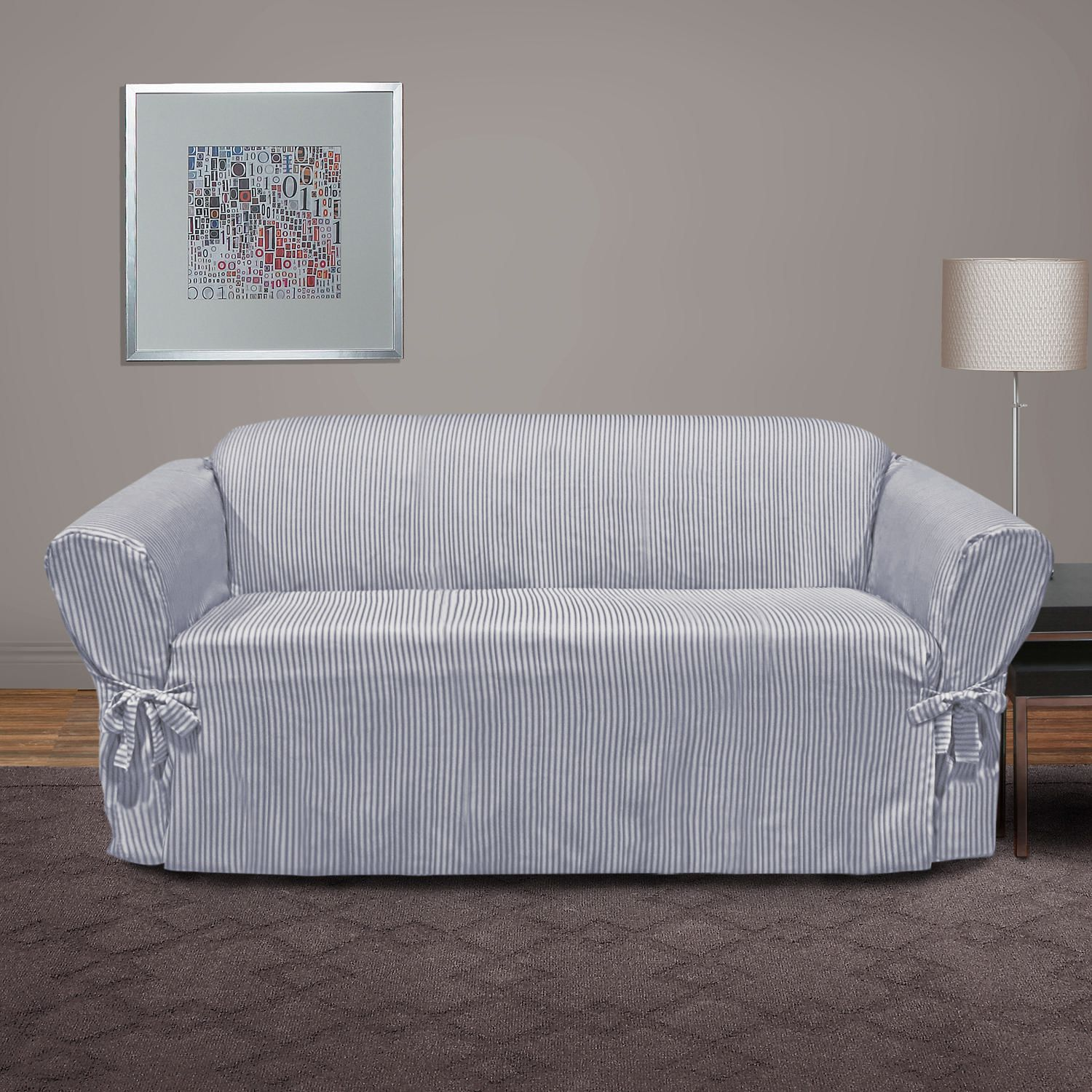 SureFit™ Muskoka Stripe Relaxed Fit Sofa Slipcover