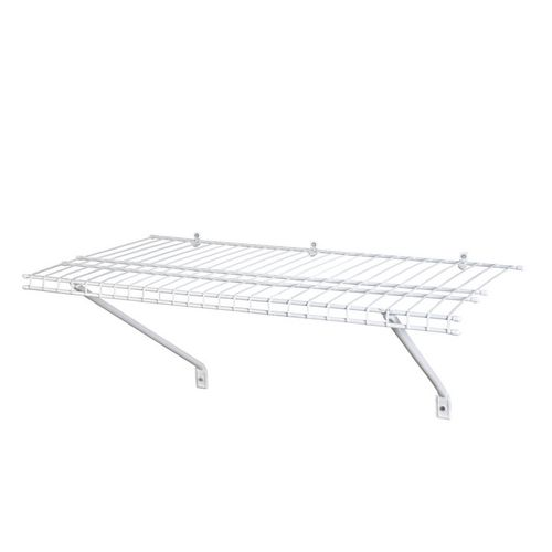 closetmaid 2 u0026 39  x 12 u0026quot  superslide prepack shelf