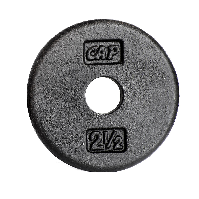 CAP Barbell 1-Inch Cast Iron Weight Plate Black Single 2.5 Lbs | Walmart Canada  sc 1 st  Walmart Canada & CAP Barbell 1-Inch Cast Iron Weight Plate Black Single 2.5 Lbs ...