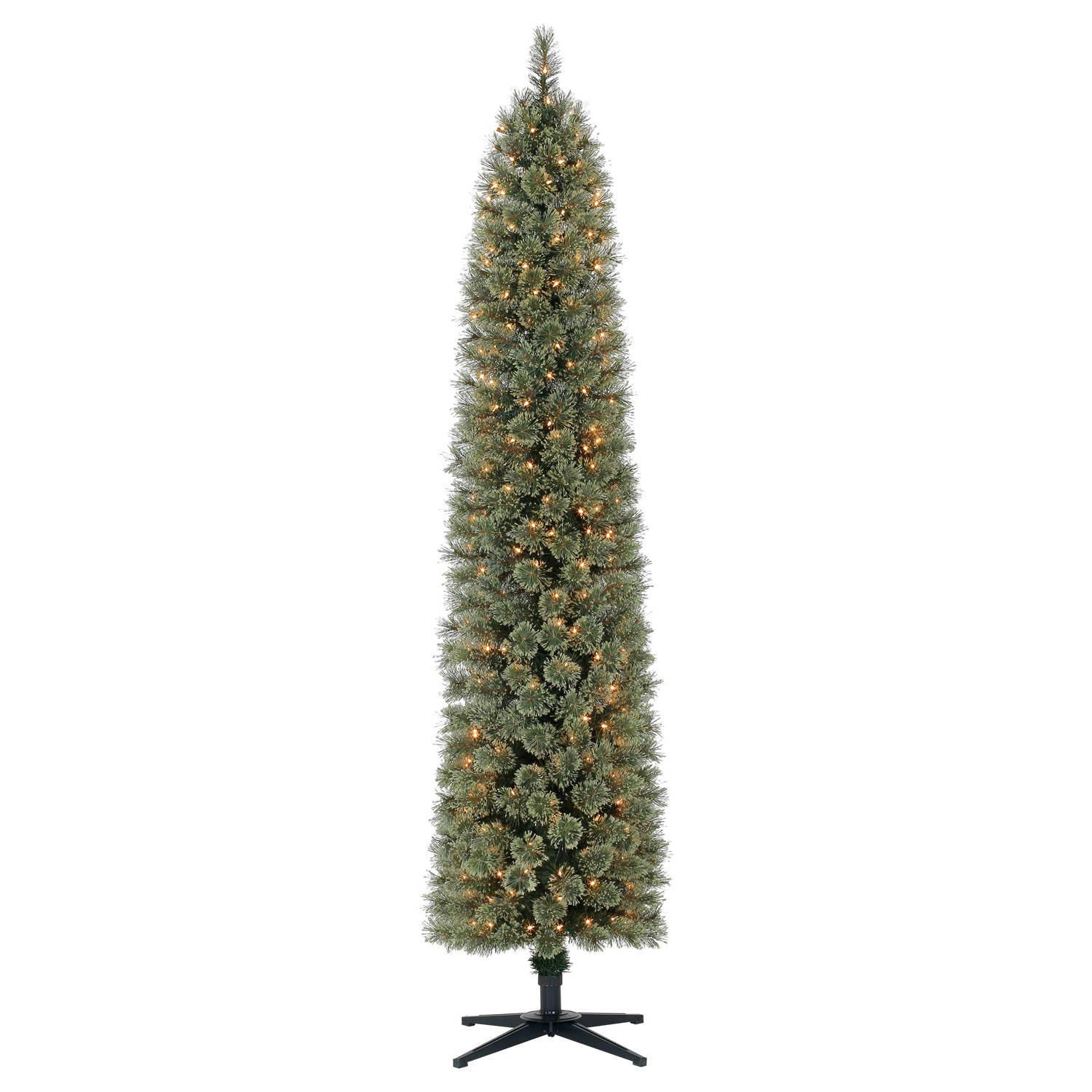 holiday time 7 shelton cashmere pencil fir christmas tree - Holiday Time Christmas Trees