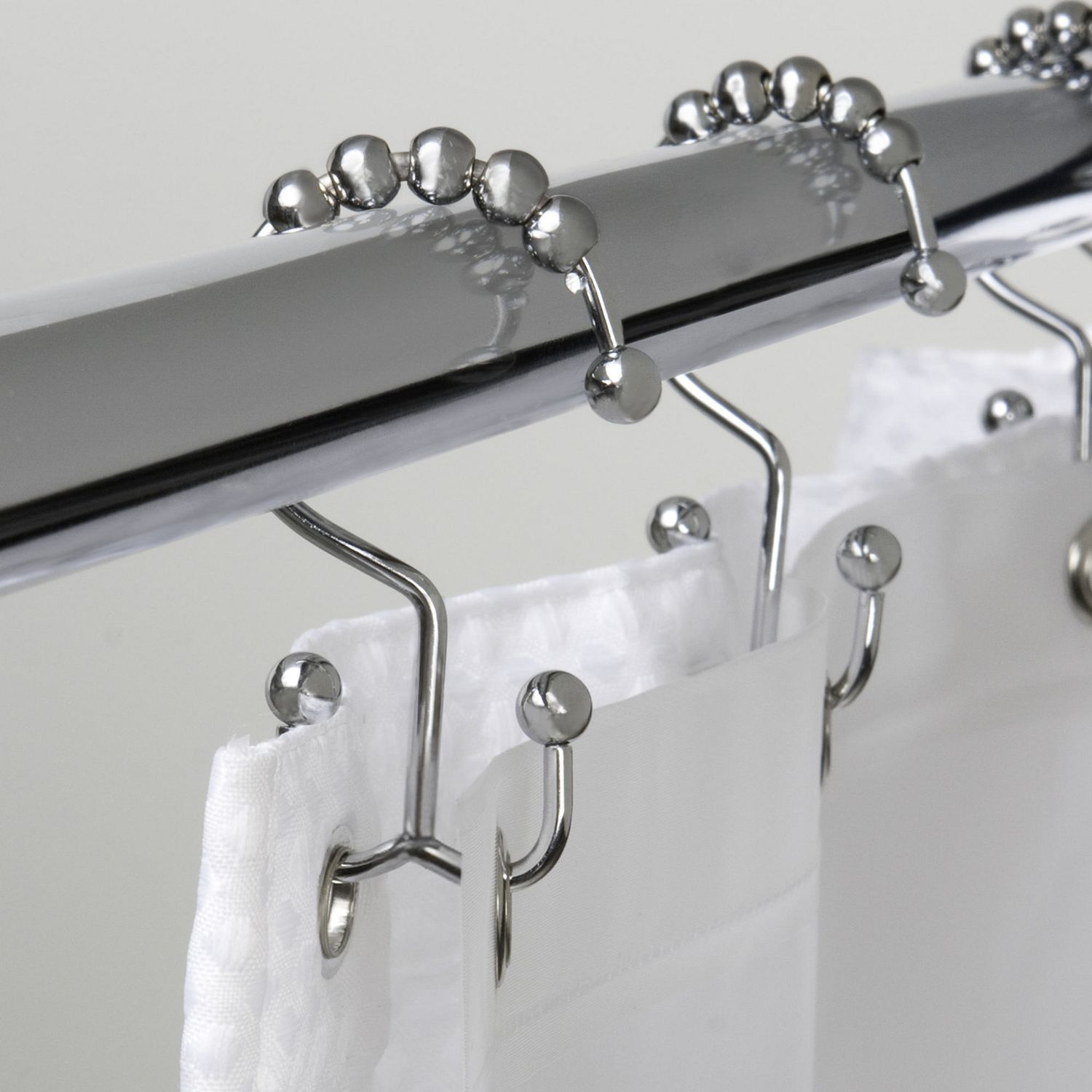 Mainstays Double Roller Glide Shower Curtain Hook Or Ring Chrome