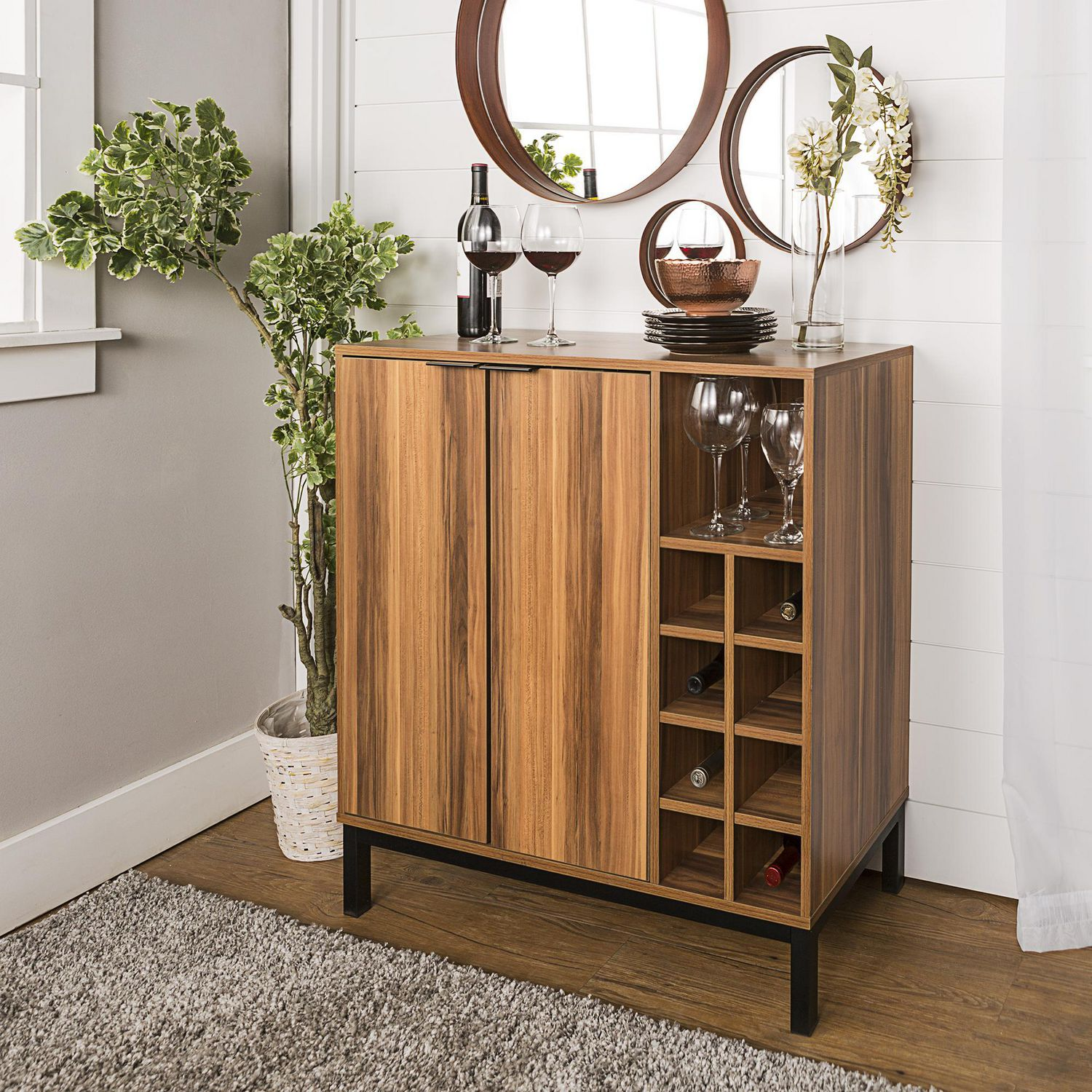 Picture of: Manor Park Mid Century Modern Buffet Bar Cabinet With Storage Multiple Finishes Walmart Canada