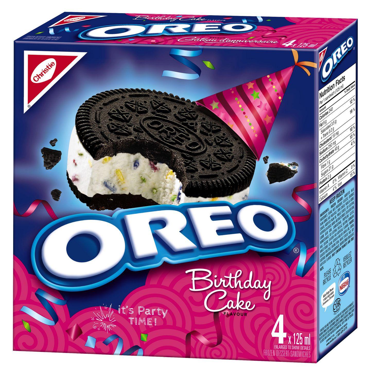 Magnificent Oreo Birthday Cake Sandwiches Frozen Dessert Walmart Canada Funny Birthday Cards Online Elaedamsfinfo
