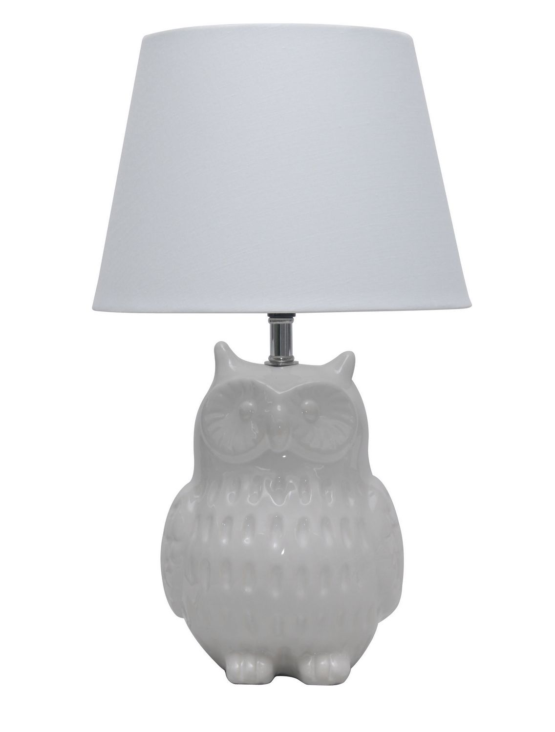 145 ceramic owl table lamp white walmart canada mozeypictures Gallery