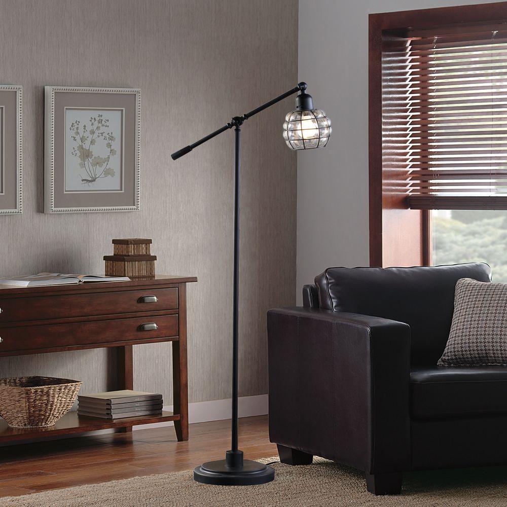 Hometrends Captured Glass Floor Lamp