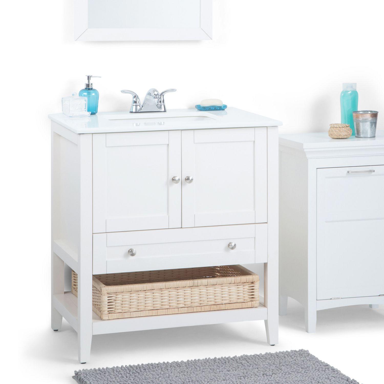 Wyndenhall salem 36 inch white quartz marble top single sink bathroom - Wyndenhall Salem 36 Inch White Quartz Marble Top Single Sink Bathroom 44
