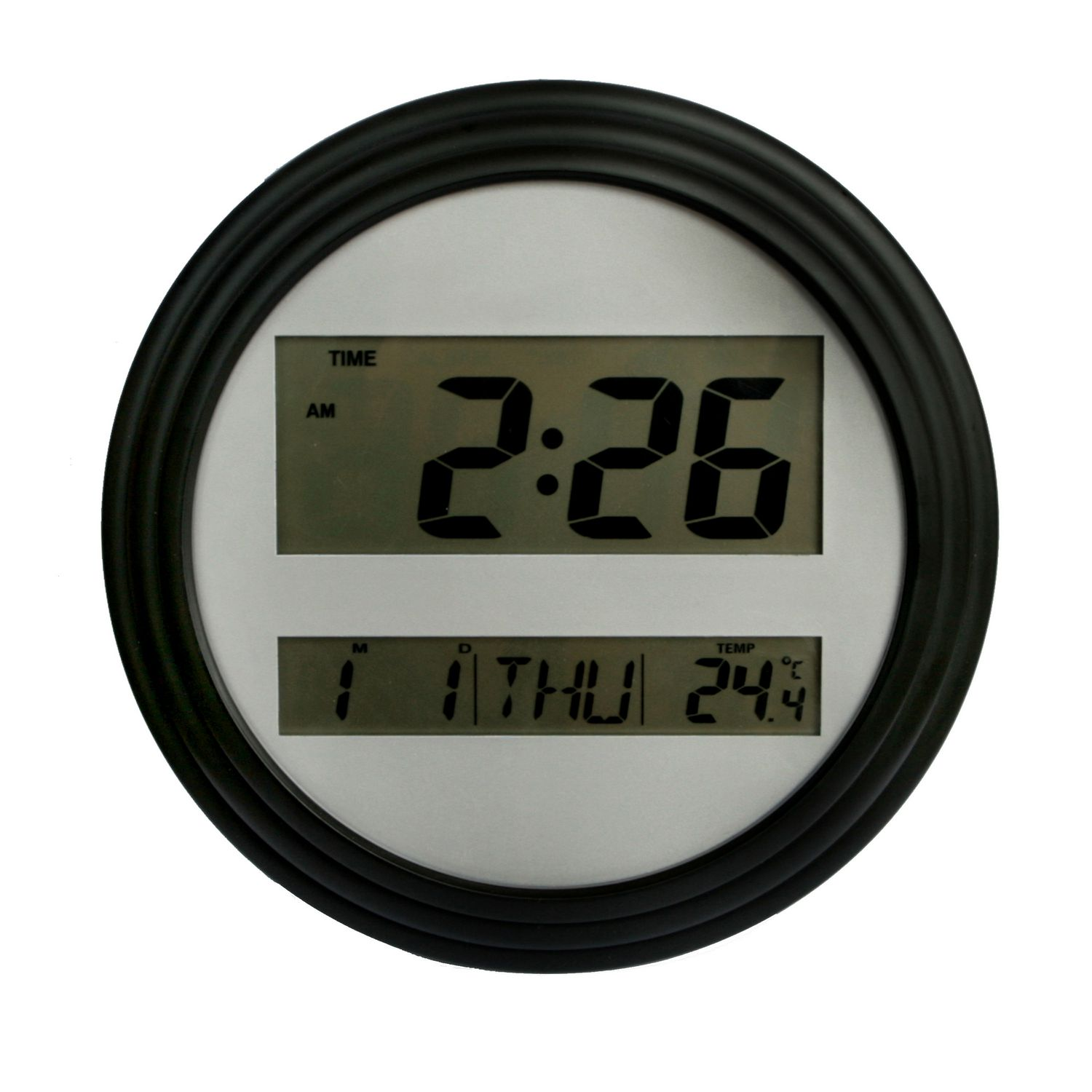 Mainstays Black Digital Wall Clock Walmart Canada