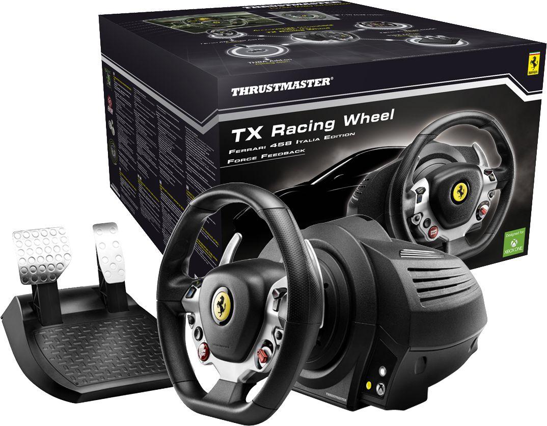 racing in ahh wheel steering a suzuki ferrari car xbox thrustmaster