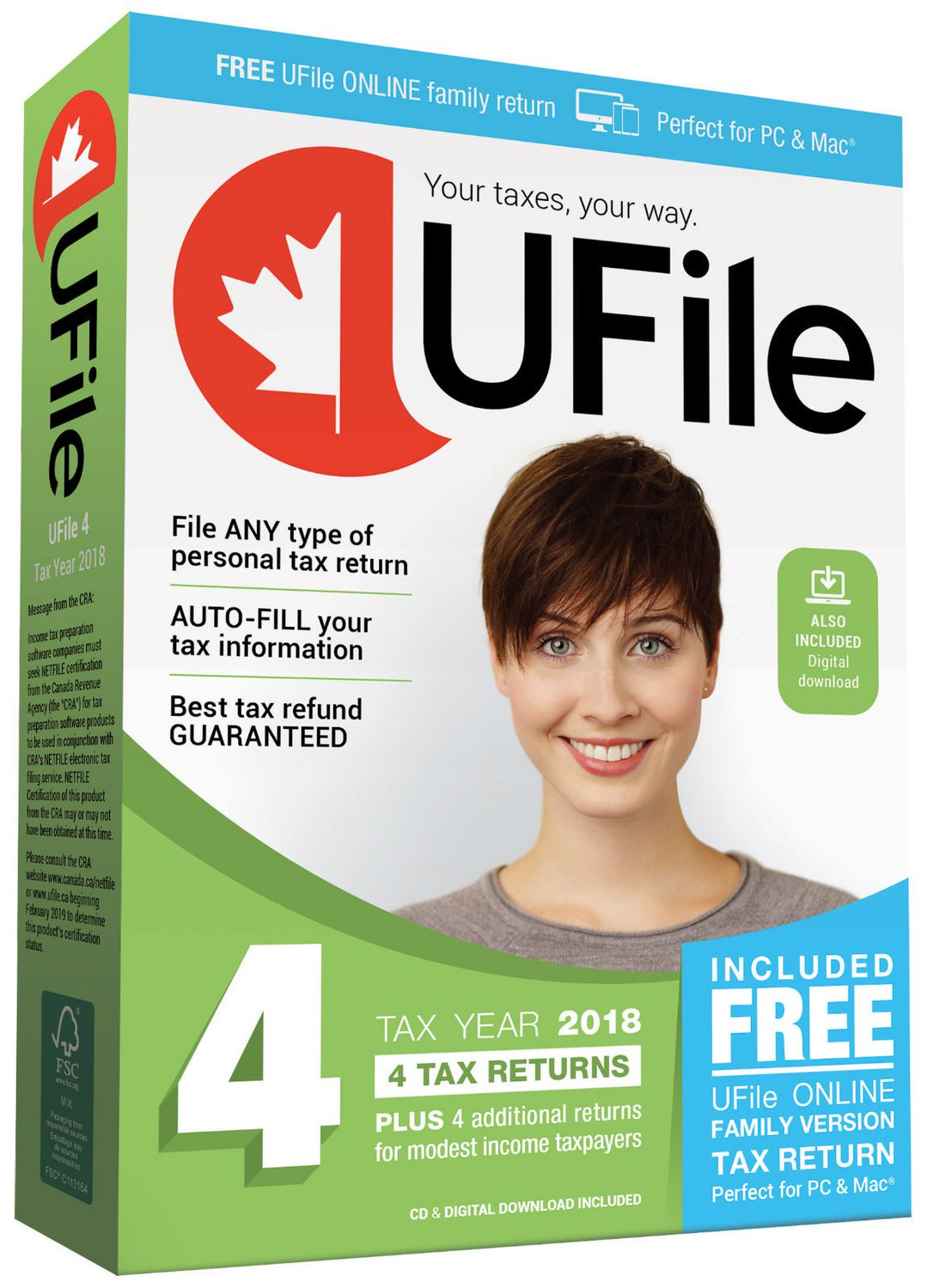 Dr  Tax UFile 4 Tax Returns & Free UFile Online family version (PC & Mac)