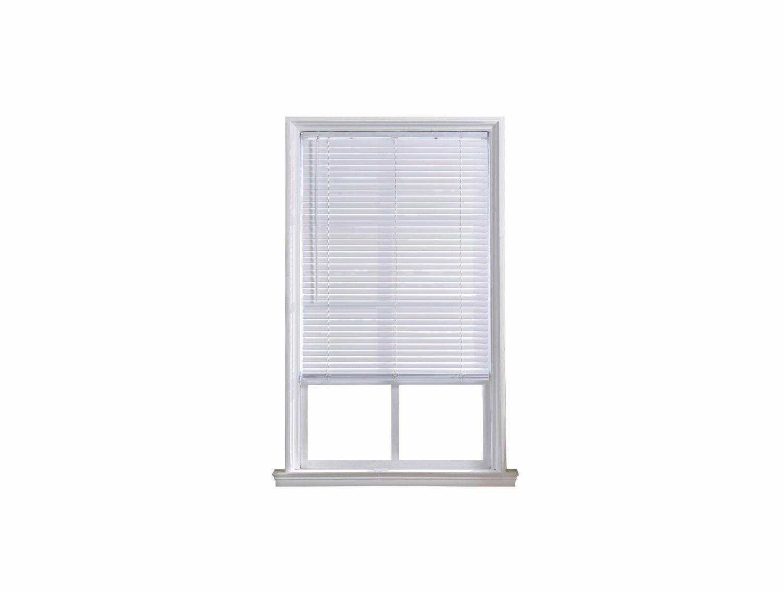 Mainstays 1 5 Quot Cordless Room Darkening White Mini Blind